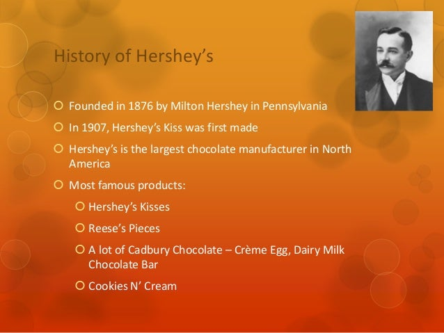 hersheys assignment 2 Assignment 1: hershey's sweet mission hershey chocolate company is the largest chocolate supplier in north america since 1894 its rich history, hershey has.
