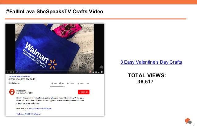#FallInLava SheSpeaksTV Crafts Video TOTAL VIEWS: 36,517 3 Easy Valentine's Day Crafts 12