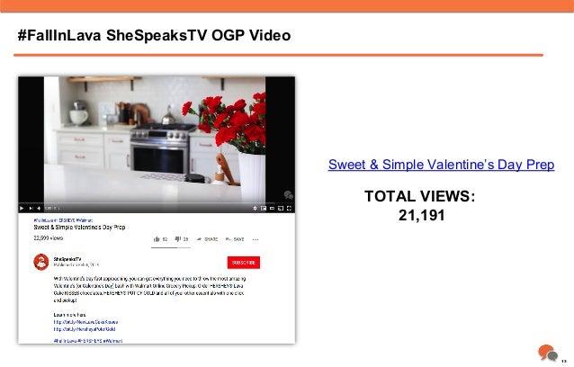 #FallInLava SheSpeaksTV OGP Video TOTAL VIEWS: 21,191 Sweet & Simple Valentine's Day Prep 13
