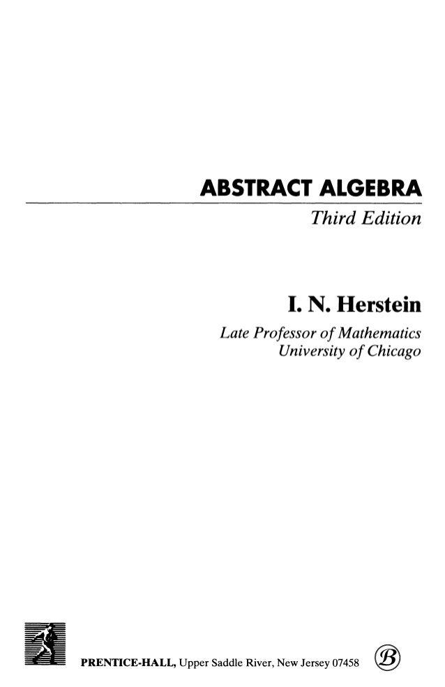 Herstein 3th editon
