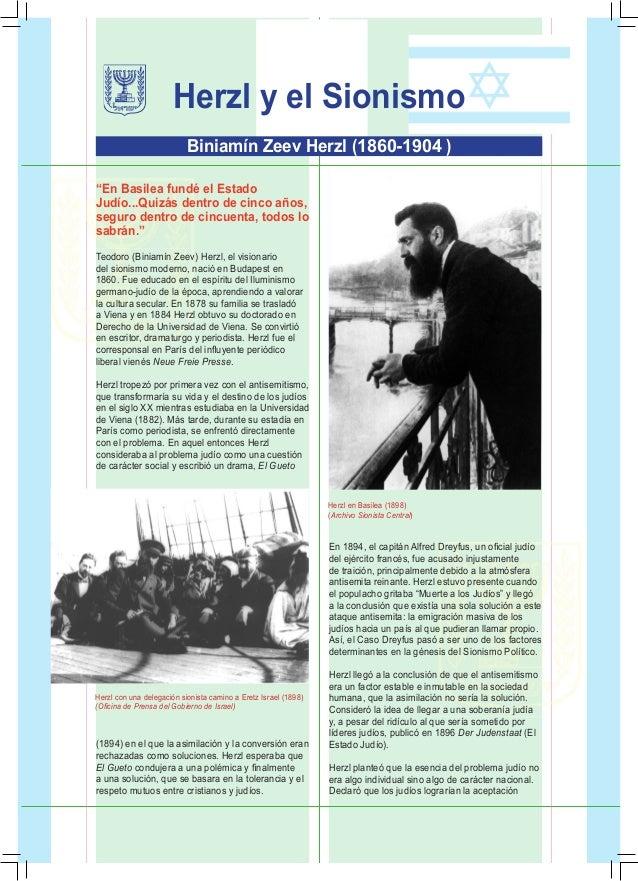 """1 Herzl y el Sionismo """"En Basilea fundé el Estado Judío...Quizás dentro de cinco años, seguro dentro de cincuenta, todos l..."""