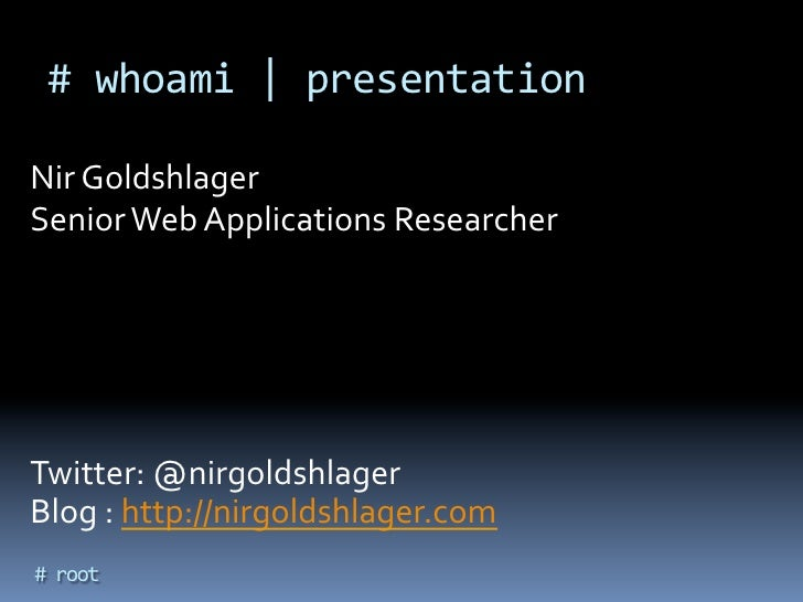 HES 2012- Killing a Bug Bounty Program by Itzhak Zuk Avraham&Nir Goldshlager Slide 3
