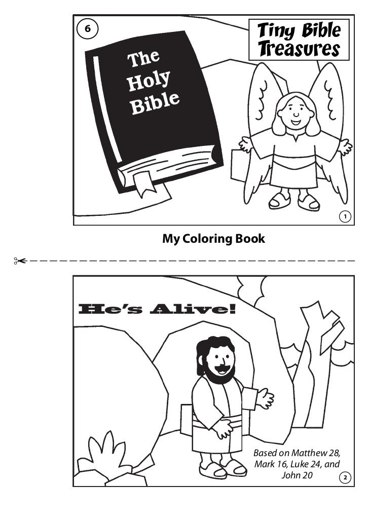 He\'s alive coloring book