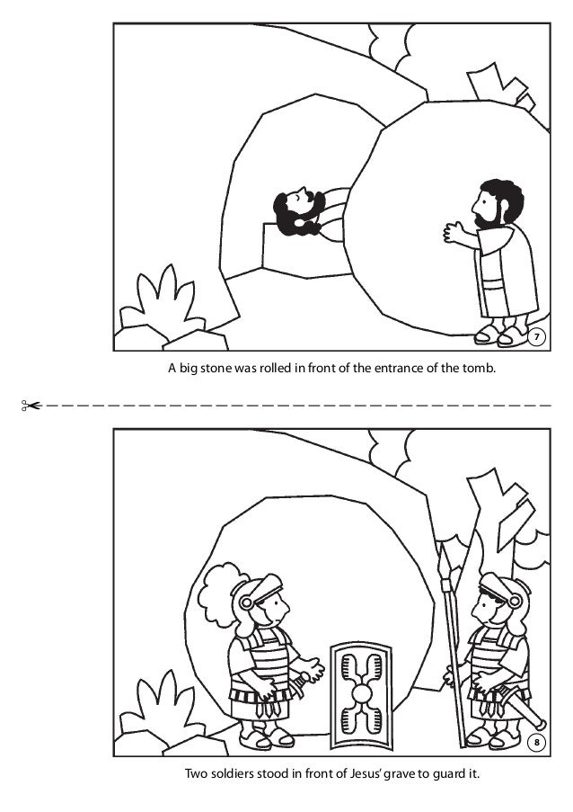 He Is Not Here Tomb Coloring Page