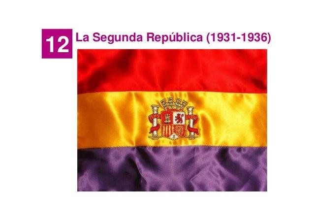12  La Segunda República (1931-1936)
