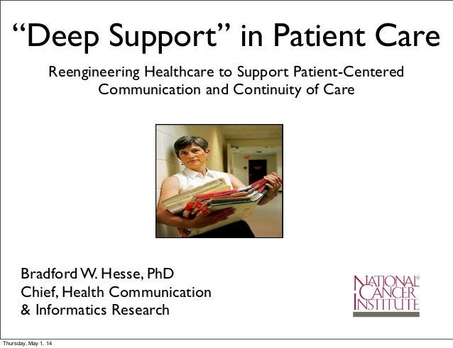 """""""Deep Support"""" in Patient Care Reengineering Healthcare to Support Patient-Centered Communication and Continuity of Care B..."""