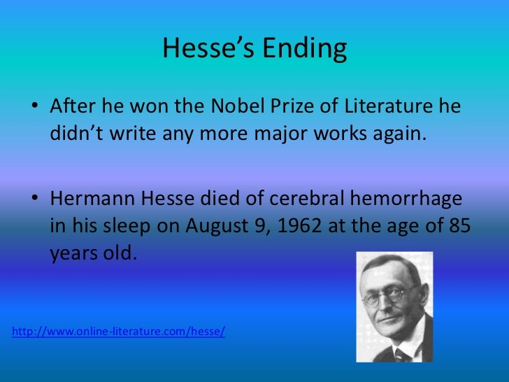 an analysis hermann hesse on writing his novel demian Demian [hermann hesse]  has writing/highlighting repaired with book tape has wear  under the influence of demian and his mother, sinclair understands the.