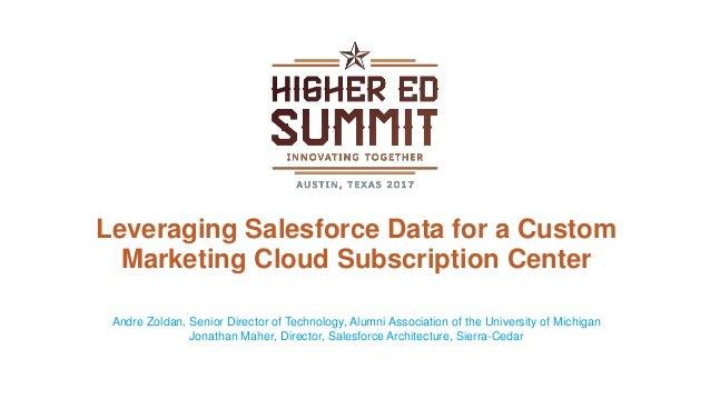 Leveraging Salesforce Data for a Custom Marketing Cloud