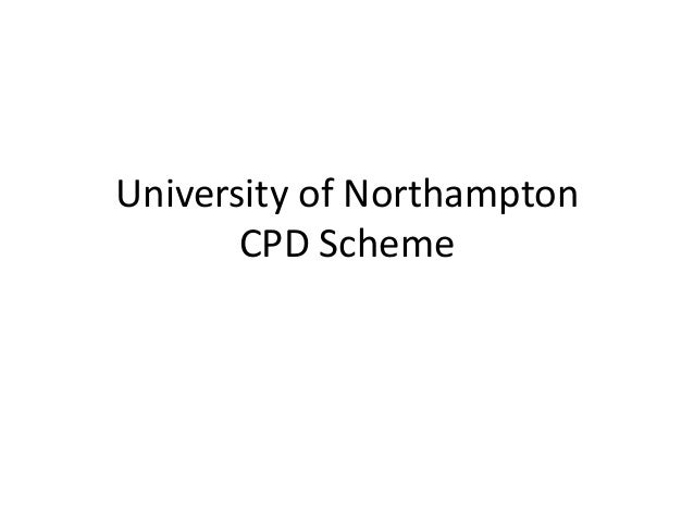 University of Northampton CPD Scheme