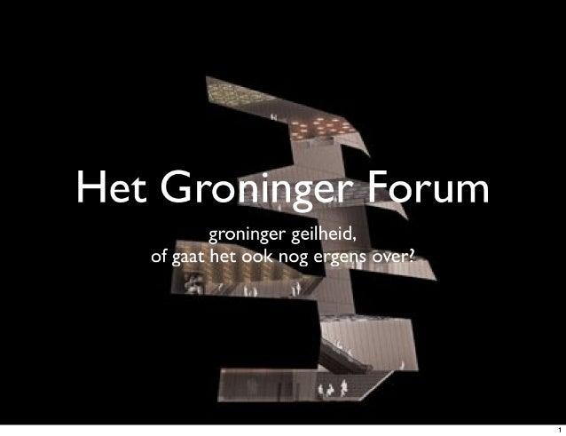 Het Groninger Forum Gekraakt