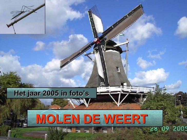 MOLEN DE WEERT  Het jaar 2005 in foto's