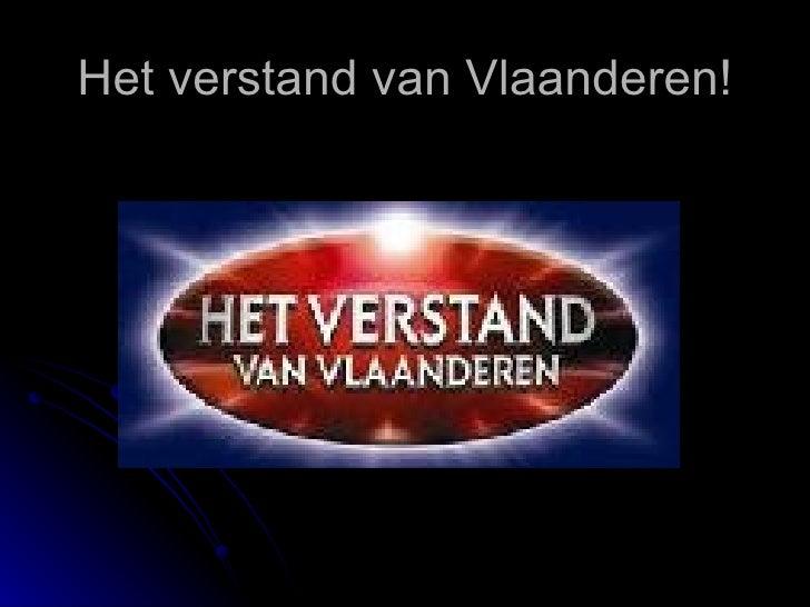 Het verstand van Vlaanderen!