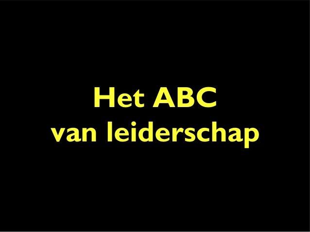 Het ABC van leiderschap