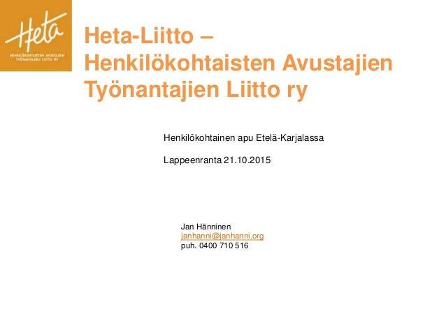 Heta Liitto Palkka