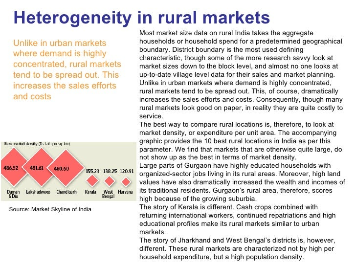 Heterogeneity in rural markets                                   Most market size data on rural India takes the aggregate ...