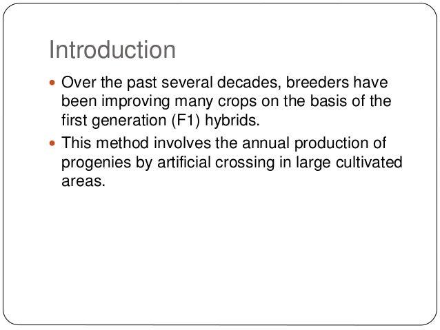 heterosis in plant breeding ppt
