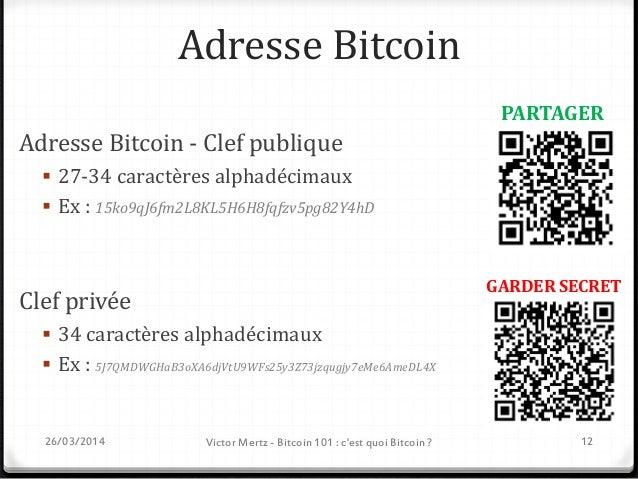 Envoi d'une transaction Bitcoin  Jean-Christophe souhaite envoyer 1 bitcoin à Denys Adresse publique Jean-Christophe : 15...