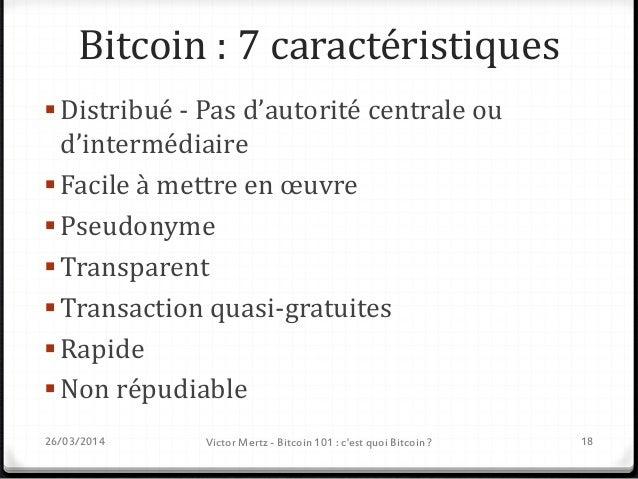Bitcoin 101 Risques et opportunités Crédits slides : Philippe Rodriguez Président de l'Association Bitcoin France