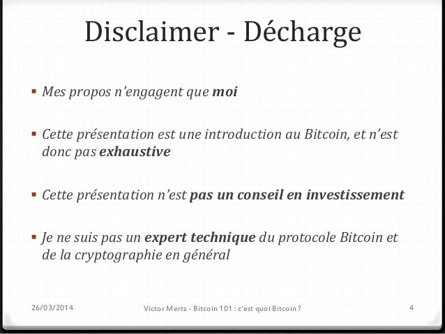 Bitcoin 101 C'est quoi Bitcoin ? 26/03/2014 Victor Mertz - Bitcoin 101 : c'est quoi Bitcoin ? 5