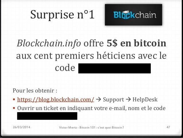 Surprise n°2 Blockchain.info offre 1000$ en bitcoin au meilleur projet HETIC réalisé avec l'API pour développeurs Blockcha...