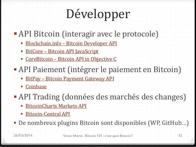 Imaginer Bitcoin : beaucoup plus qu'une monnaie ! Smart contract, Smart property … Lancez vous ! 26/03/2014 Victor Mert...
