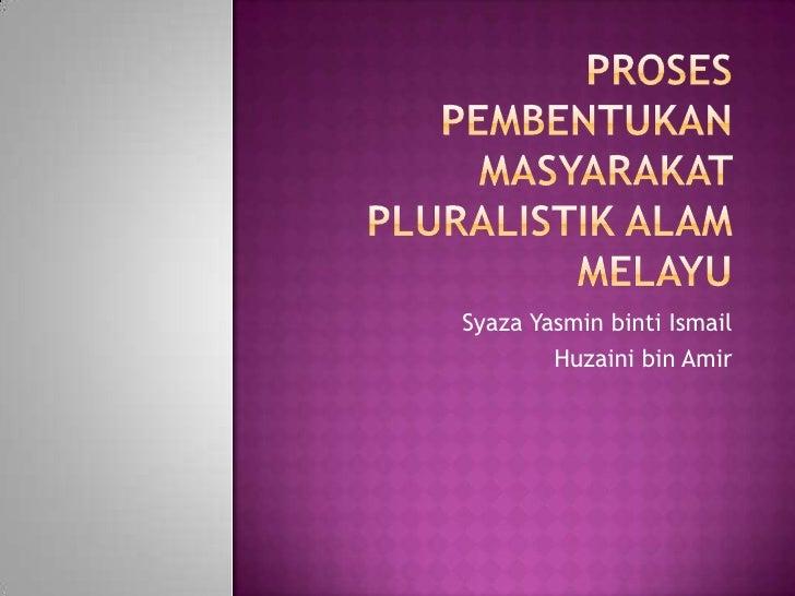 Syaza Yasmin binti Ismail         Huzaini bin Amir