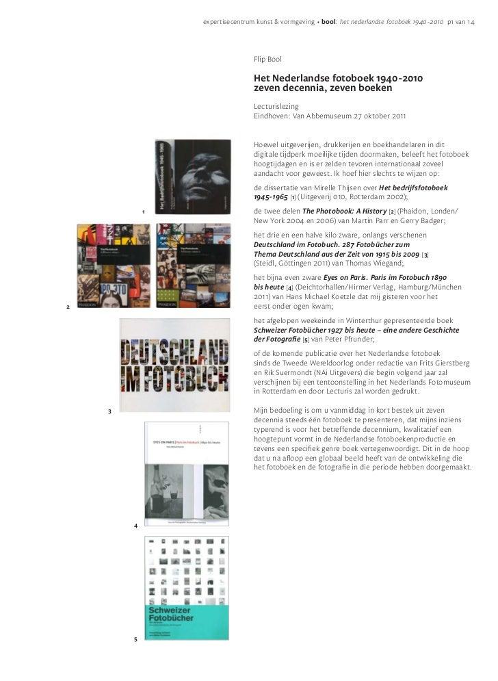 expertisecentrum kunst & vormgeving • bool: het nederlandse fotoboek 1940-2010 p1 van 14                                Fl...