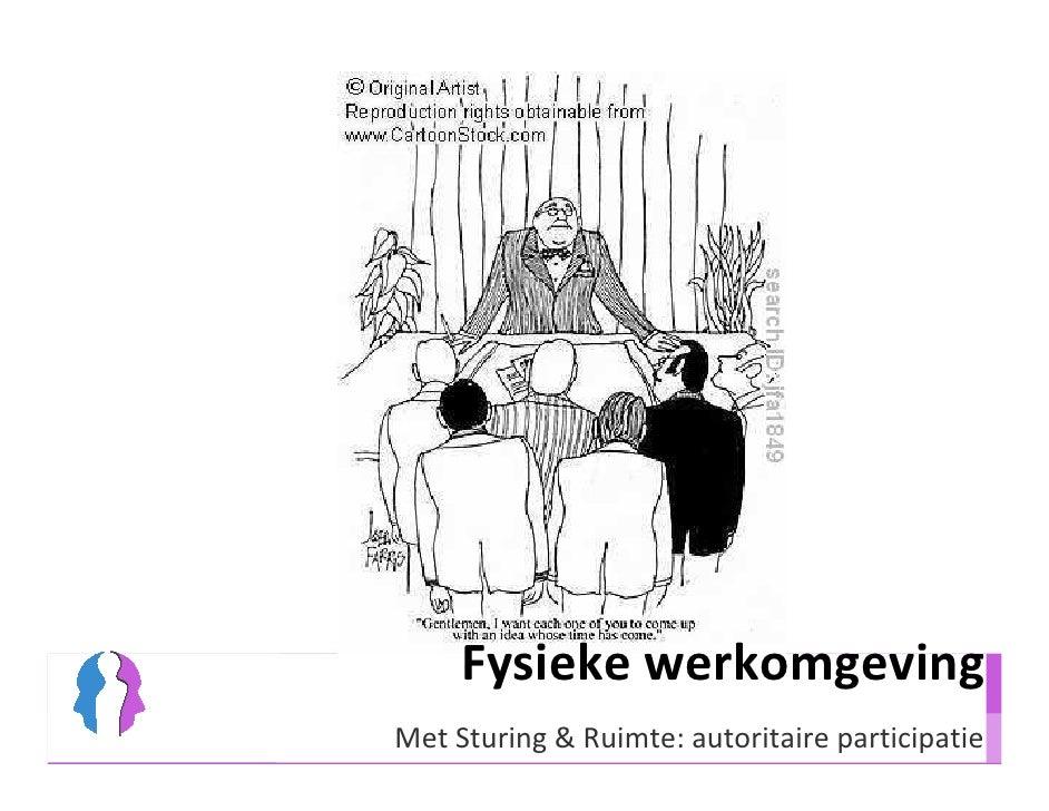 Fysieke werkomgeving Met Sturing & Ruimte: autoritaire participatie