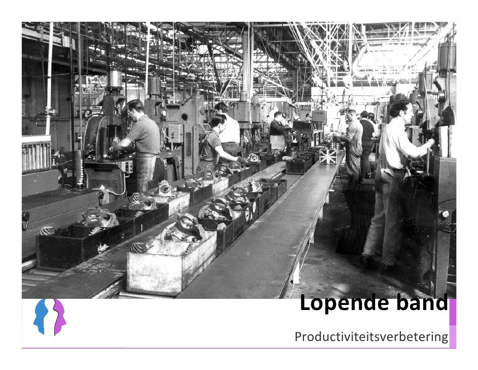 Lopende band Productiviteitsverbetering