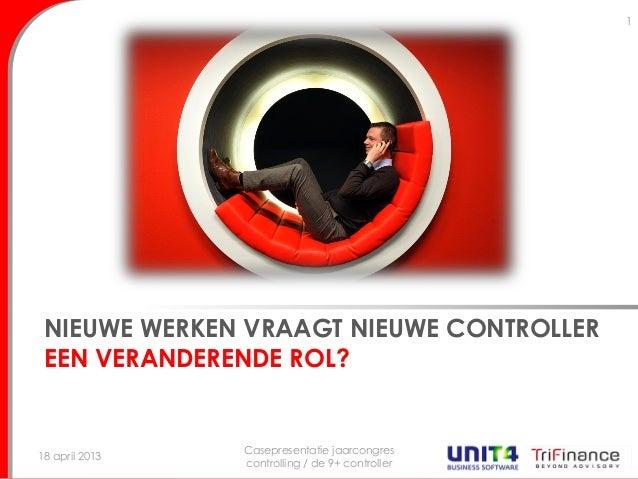NIEUWE WERKEN VRAAGT NIEUWE CONTROLLEREEN VERANDERENDE ROL?18 april 2013Casepresentatie jaarcongrescontrolling / de 9+ con...