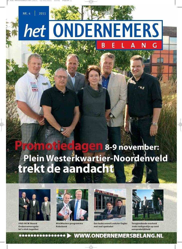 R HOB Westerkwartier 0411       13-10-2011   11:55   Pagina 1             NR. 4              2011            WESTERKWARTIE...