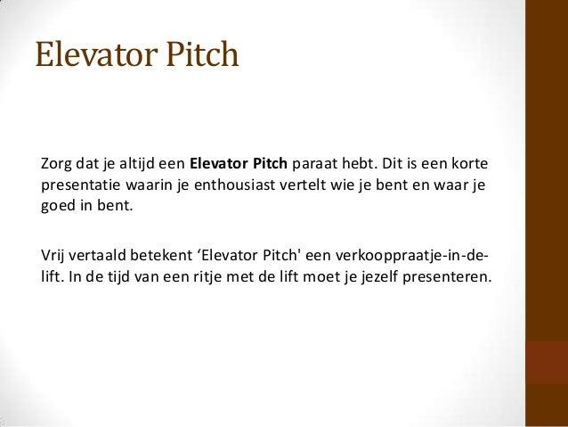voorbeeld elevator pitch sollicitatie Het sollicitatiegesprek studio werk voorbeeld elevator pitch sollicitatie