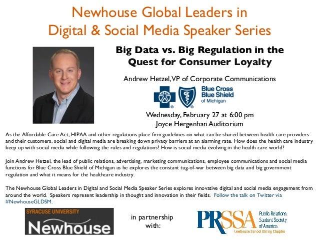 Newhouse Global Leaders in                   Digital & Social Media Speaker Series                                      ...