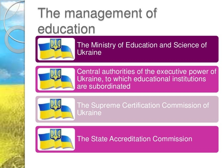 higher education in ukraine Higher education in ukraine starts with the successful completion of the secondary education and passing the university entrance examination it is coordinated and.