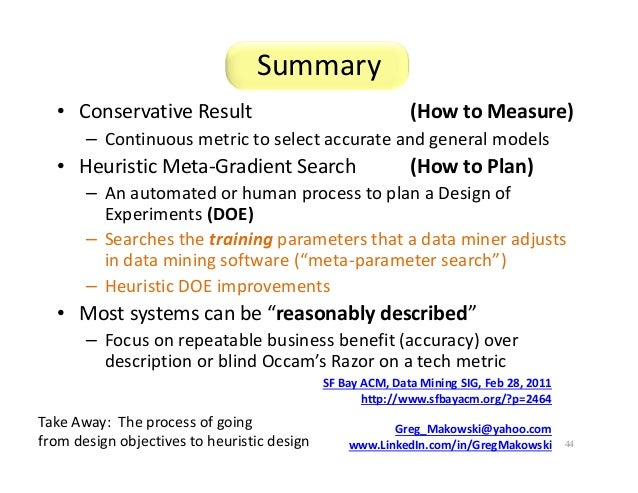 Heuristic Design Of Experiments W Meta Gradient Search