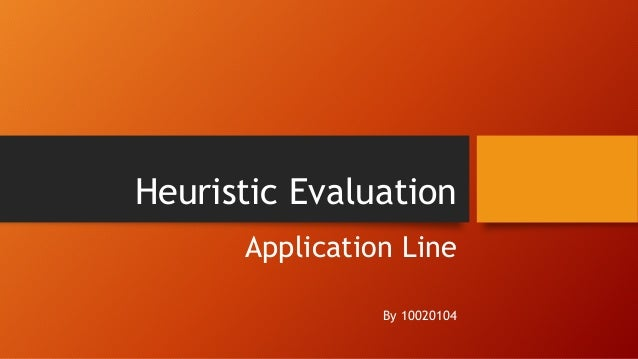 Heuristic Evaluation Application Line By 10020104
