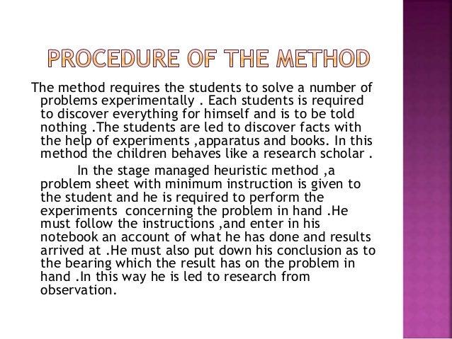 Heuristic method powerpoint slides.