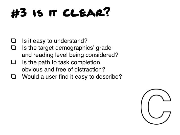 TOP 3 Clarity Offenses• Corporate underpants: When you are obviously   making a navigational decision based on your   org...