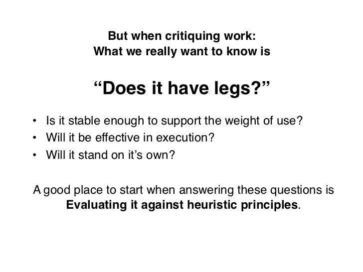 Information Architecture Heuristics Slide 3