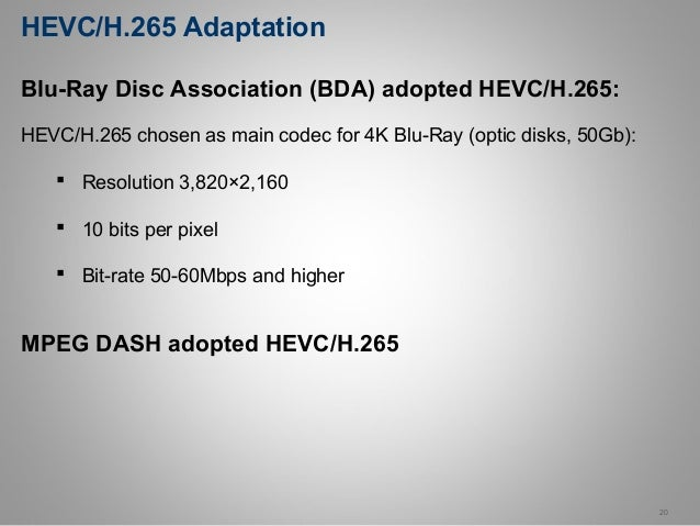 HEVC / H265 Hands-On course