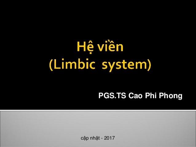 PGS.TS Cao Phi Phong cập nhật - 2017
