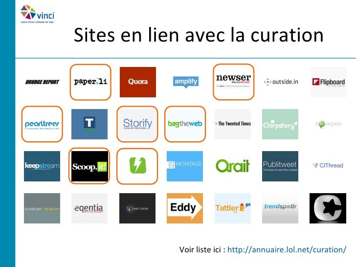 Critères de différenciation• Popularité du service• Type de contenu accepté (liens, flux RSS, images,  vidéos, etc.)• Séle...