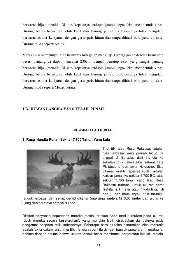 Hewan Dan Tumbuhan Langka
