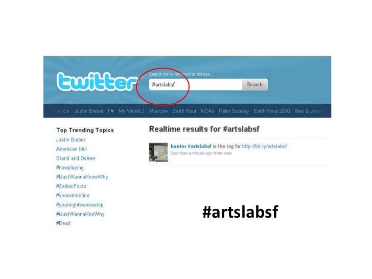 #artslabsf<br />