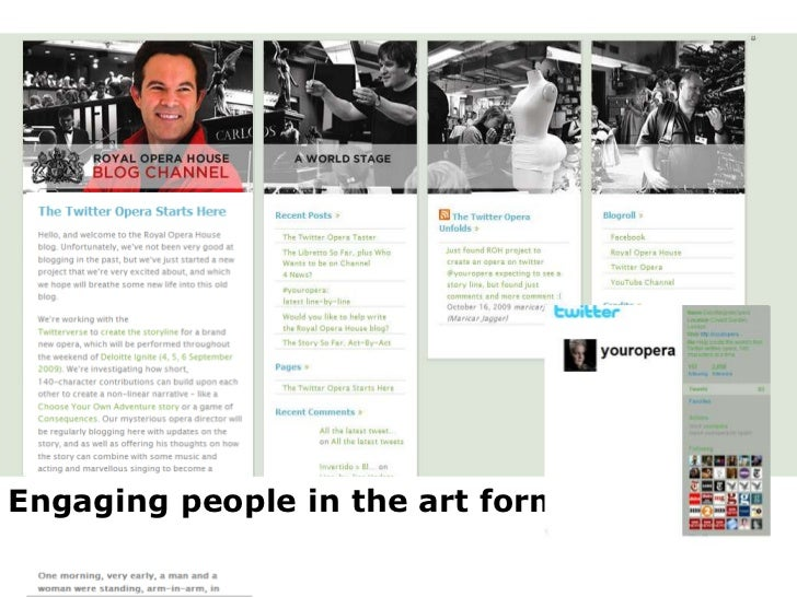Engaging people in the art form<br />