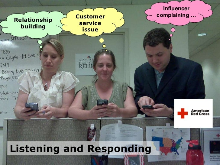 Influencer complaining …<br />Customer service issue<br />Relationship building<br />Listening and Responding <br />