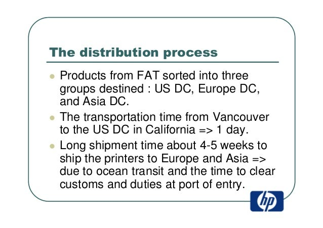 hp deskjet supply chain Design for logistics is a series of concepts in the field of supply chain management involving product and design approaches that help to control logistics costs and increase customer service level these concepts were introduced by professor hau lee of stanford university, and have the three key components: economic.