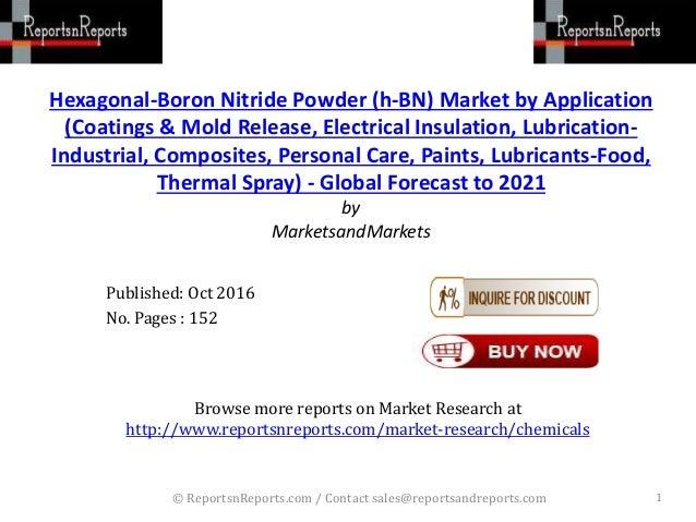 Hexagonal-Boron Nitride Powder (h-BN) Market Forecasted to