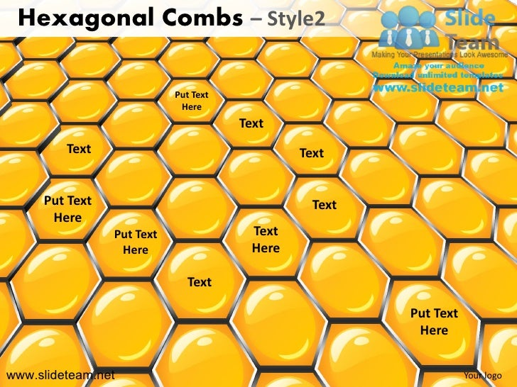 Hexagonal Combs – Style2                           Put Text                            Here                               ...