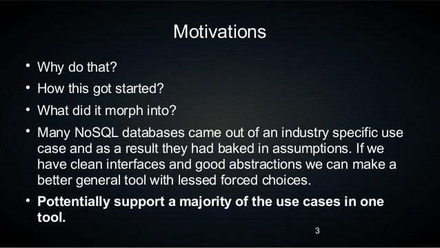 Nibiru: Building your own NoSQL store Slide 3